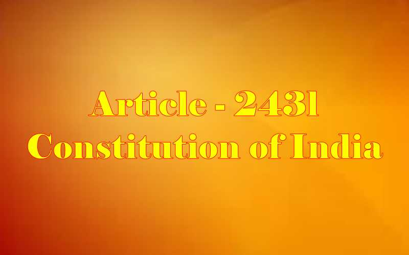 Article 243L of Indian Constitution in Hindi