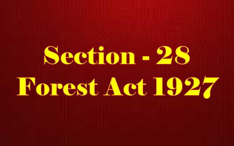 Section 28 of Indian Forest Act in Hindi