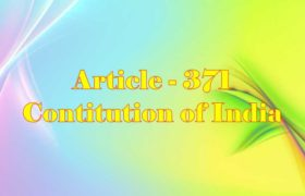 Article 371 of Indian Constitution in Hindi