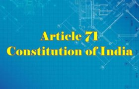 Article 71 of Indian Constitution in Hindi
