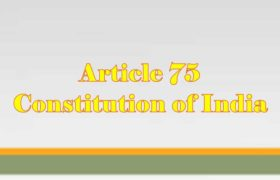 Article 75 of Indian Constitution in Hindi