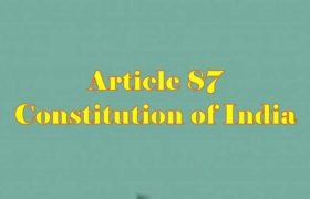 Article 87 of Indian Constitution in Hindi