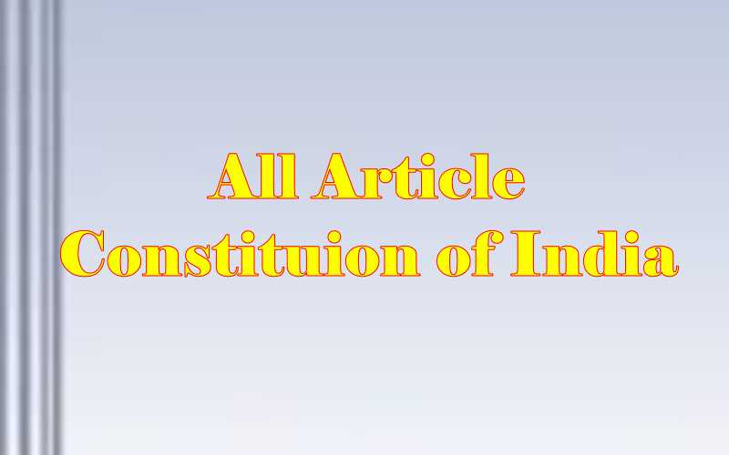 all articles of indian constitution in hindi
