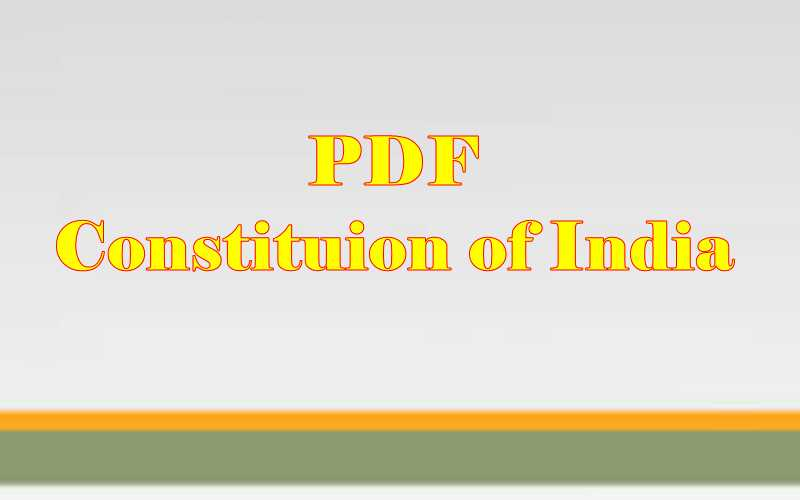 Indian Constitution PDF in Hindi