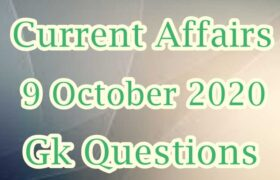 9 October 2020 Current affairs in Hindi