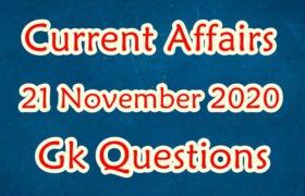 21 November 2020 Current affairs in Hindi