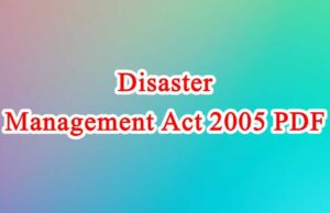 Disaster Management Act 2005 PDF