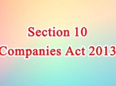 Section 10 of Companies Act in Hindi
