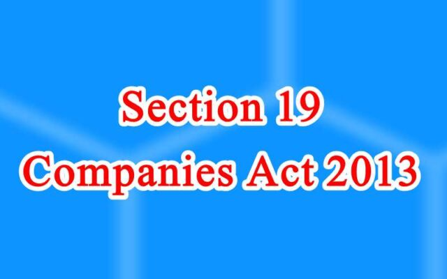 Section 19 of Companies Act in Hindi