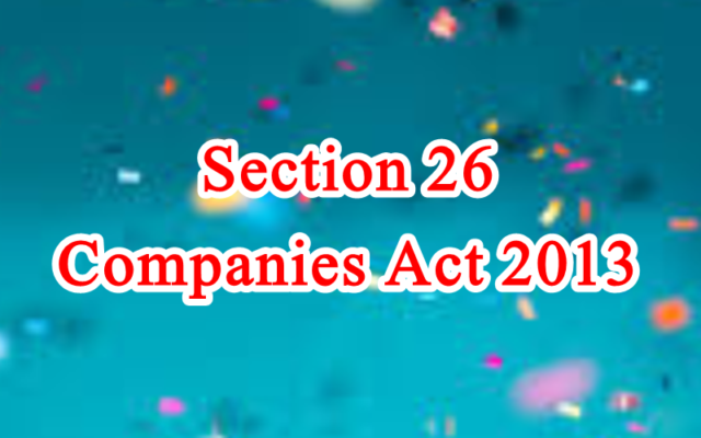 Section 26 of Companies Act in Hindi