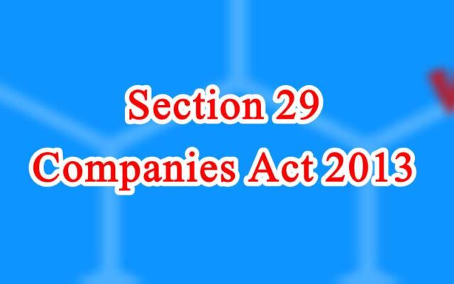 Section 29 of Companies Act in Hindi