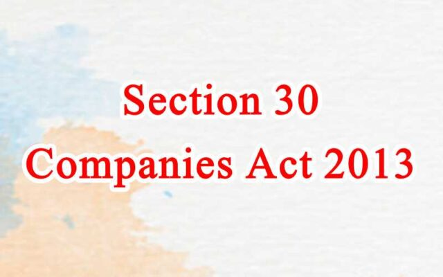 Section 30 of Companies Act in Hindi