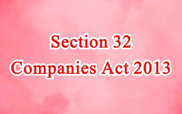 Section 32 of Companies Act in Hindi