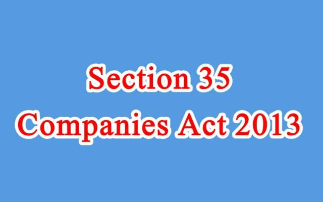 Section 35 of Companies Act in Hindi