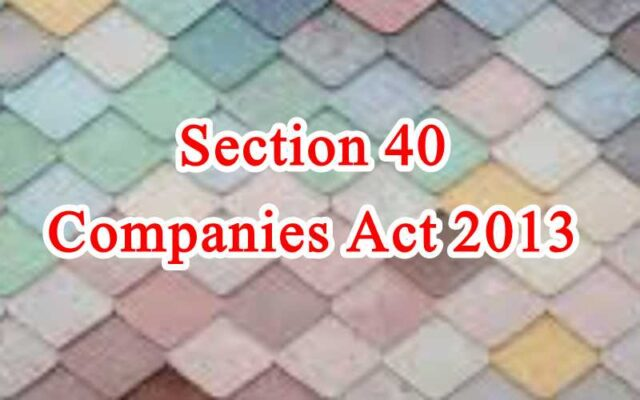 Section 40 of Companies Act in Hindi