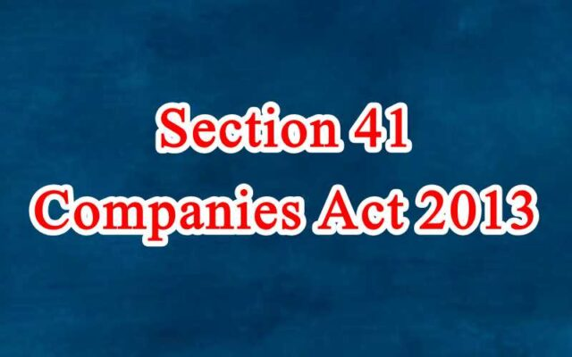 Section 41 of Companies Act in Hindi
