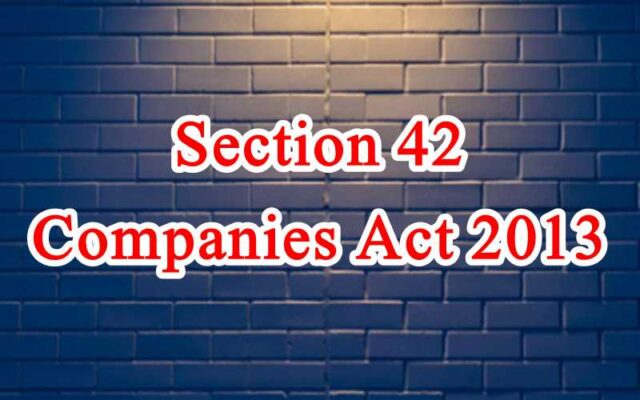 Section 42 of Companies Act in Hindi