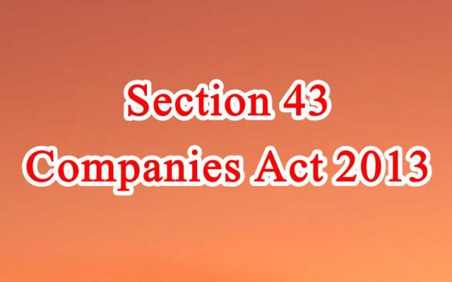 Section 43 of Companies Act in Hindi
