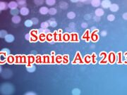 Section 46 of Companies Act in Hindi