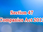 Section 47 of Companies Act in Hindi