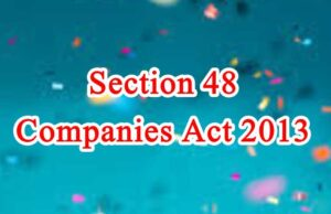Section 48 of Companies Act in Hindi