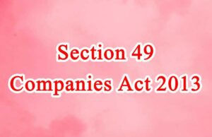 Section 49 of Companies Act in Hindi