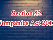 Section 52 of Companies Act in Hindi