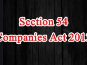 Section 54 of Companies Act in Hindi