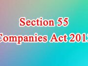 Section 55 of Companies Act in Hindi