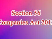 Section 56 of Companies Act in Hindi