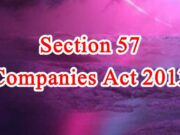 Section 57 of Companies Act in Hindi