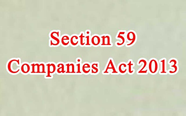 Section 59 of Companies Act in Hindi