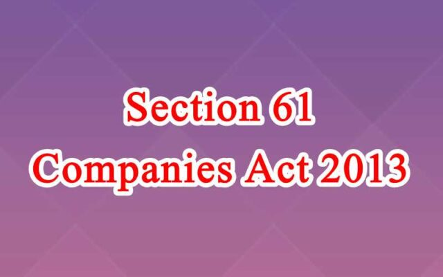 Section 61 of Companies Act in Hindi