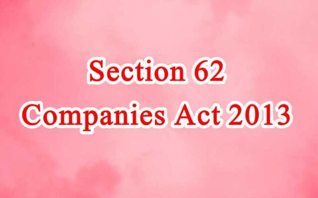 Section 62 of Companies Act in Hindi