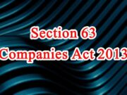 Section 63 of Companies Act in Hindi