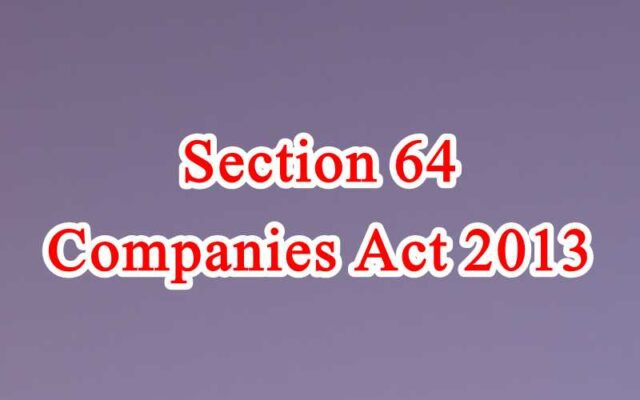 Section 64 of Companies Act in Hindi