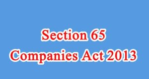 Section 65 of Companies Act in Hindi