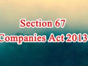 Section 67 of Companies Act in Hindi