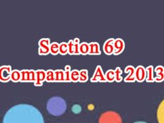 Section 69 of Companies Act in Hindi