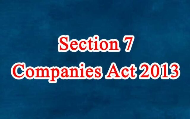 Section 7 of Companies Act in Hindi
