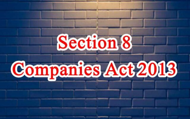 Section 8 of Companies Act in Hindi