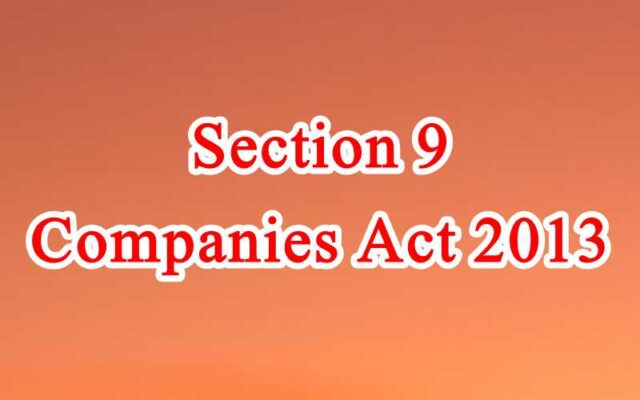 Section 9 of Companies Act in Hindi