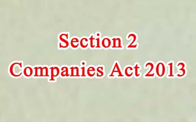Section 2 of Companies Act in Hindi