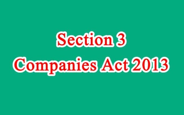 Section 3 of Companies Act in Hindi
