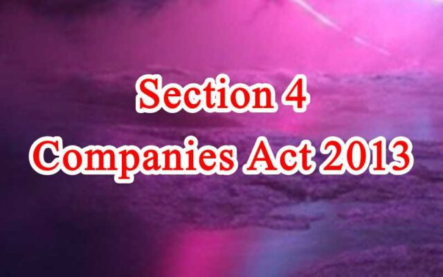Section 4 of Companies Act in Hindi