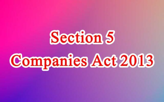 Section 5 of Companies Act in Hindi